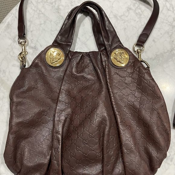 Gucci guccissima hysteria hobo & matching wallet